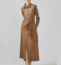Est'seven Est'Seven button Down Dress camel