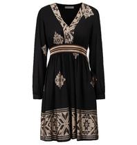 Rinascimento Rinascimento jurk met goudkleurige details zwart