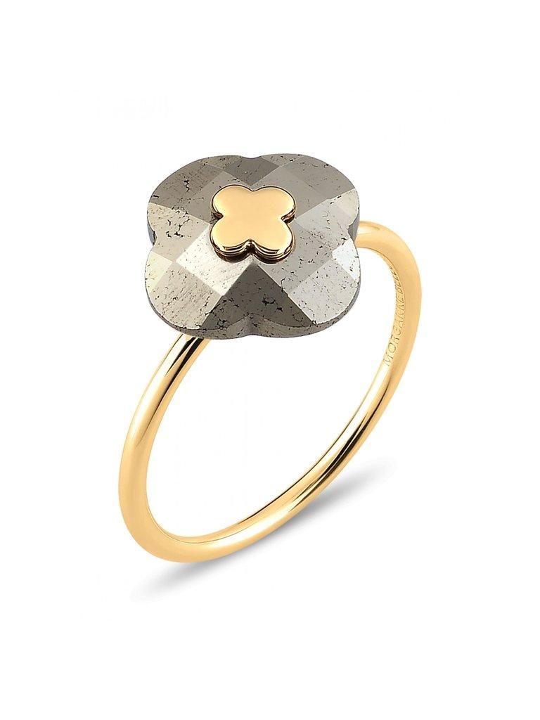 Morganne Bello Morganne Bello ring Pyrite stone yellow gold