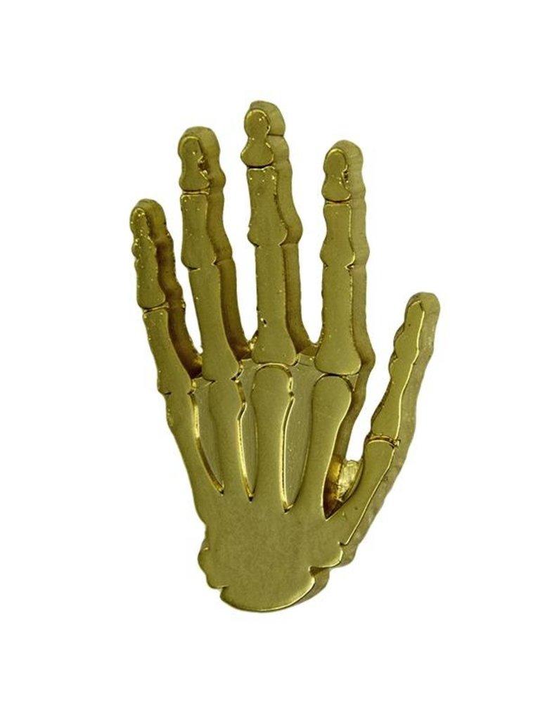 Godert.Me Godert.me Skeleton hand pin goud