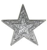 Godert.Me Godert.me Star glitter pin silver