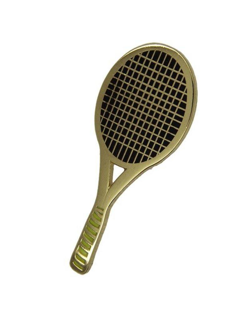 Godert.Me Godert.me Tennisrackt gold Pin