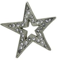 Godert.Me Godert.me Open star rhinestone pin silver