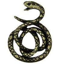 Godert.Me Godert.me Snake pin black gold