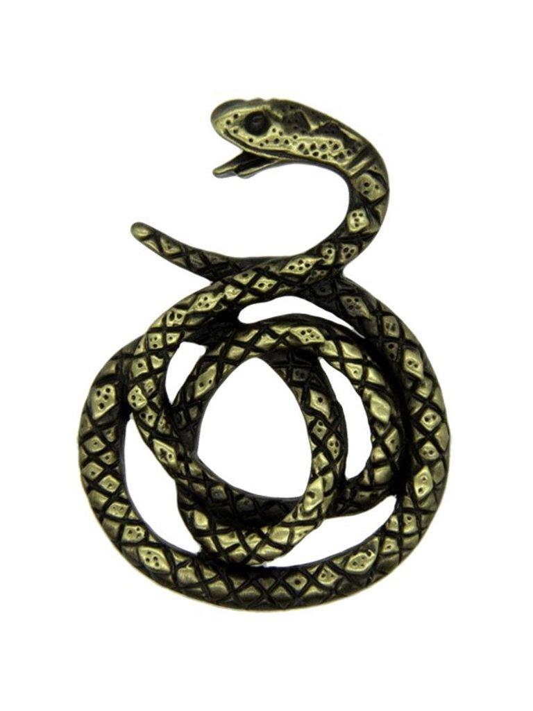 Godert.Me Godert.me Snake Pin schwarz gold
