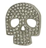 Godert.Me Godert.me Skull rhinestones pin zilver
