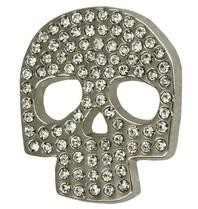 Godert.Me Godert.me Skull rhinestones pin silver