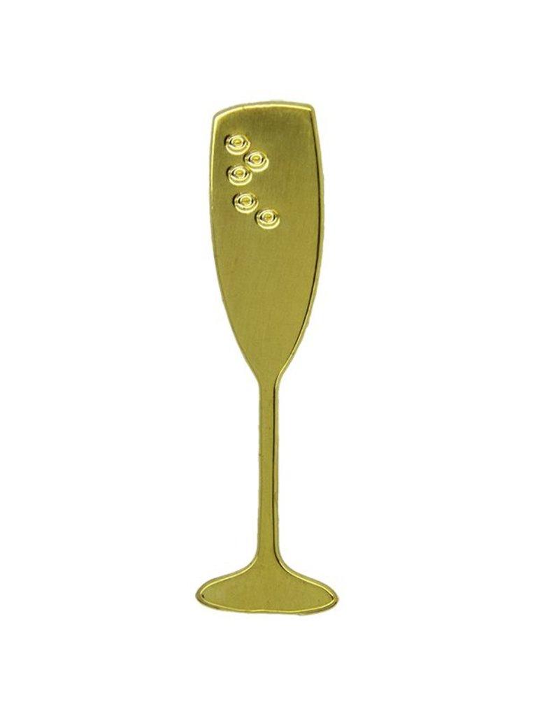 Godert.Me Godert.me Champagne glass pin gold