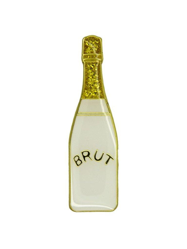 Godert.Me Godert.me Champagne bottle pin wit goud