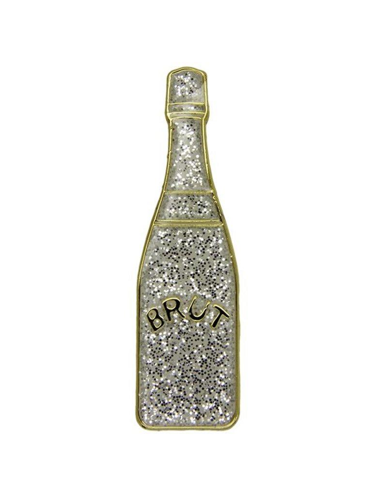 Godert.Me Godert.me Champagne bottle pin glitter goud