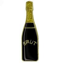 Godert.Me Godert.me Champagne bottle pin black gold