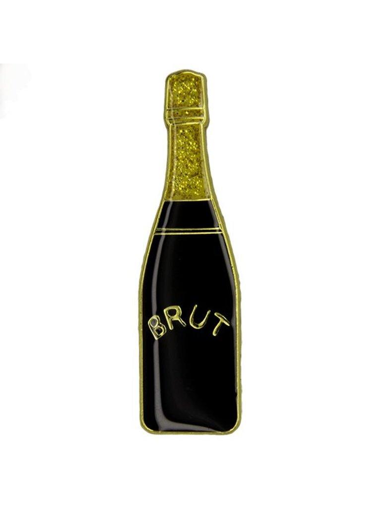 Godert.me Champagne bottle Pin schwarz gold