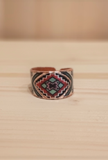 """Ring  aus Kupfer """"Colors of the World"""""""
