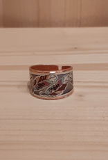 "Ring  aus Kupfer ""Colorful Feathers"""