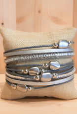Fancy Armband Silver Stone