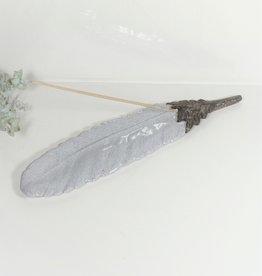 Räucherstäbchenhalter Graue Feder