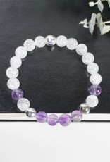 """Armband """"Intuition"""" mit Amethyst & Bergkristall"""