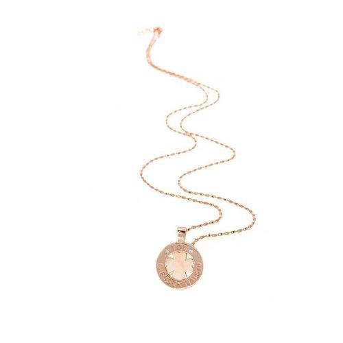 Necklace 85cm - 4leaf pendant