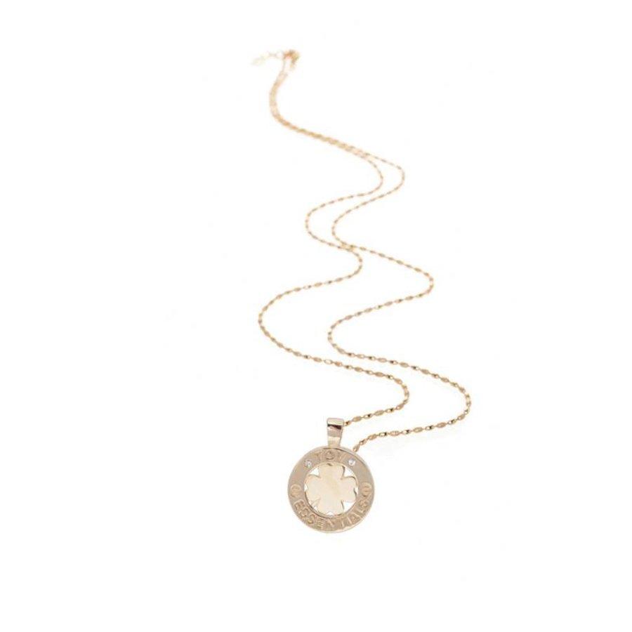 Necklace 85cm - 4 leaf pendant