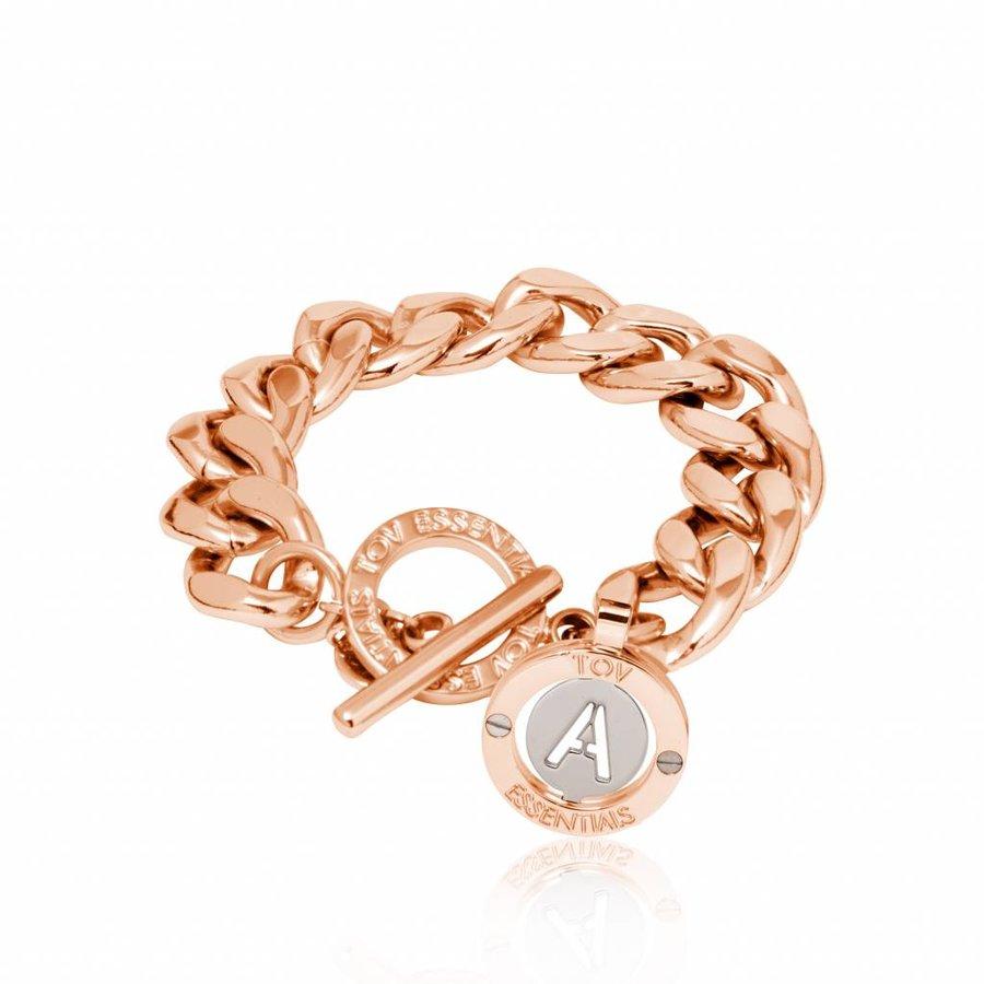 Iniziali - flat chain- armband