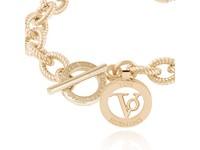 Small flat chain bracelet- Gold  - Copy