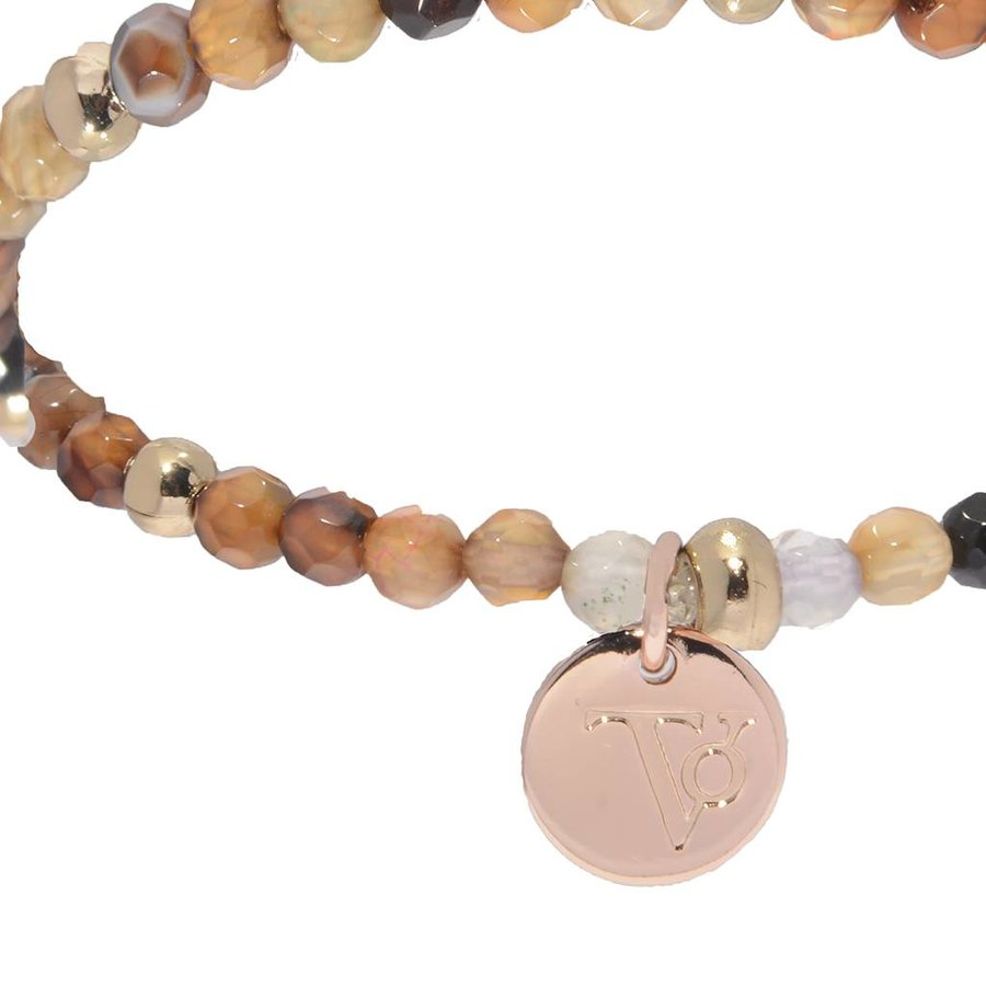 Romancing The Stones - Armband - Brown/Rose Gold