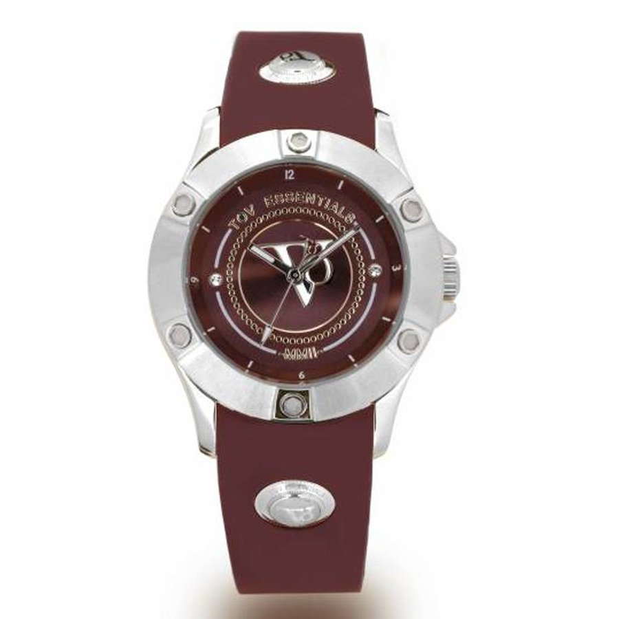 Pearl Harbour - Burgundy - Steel - Horloge