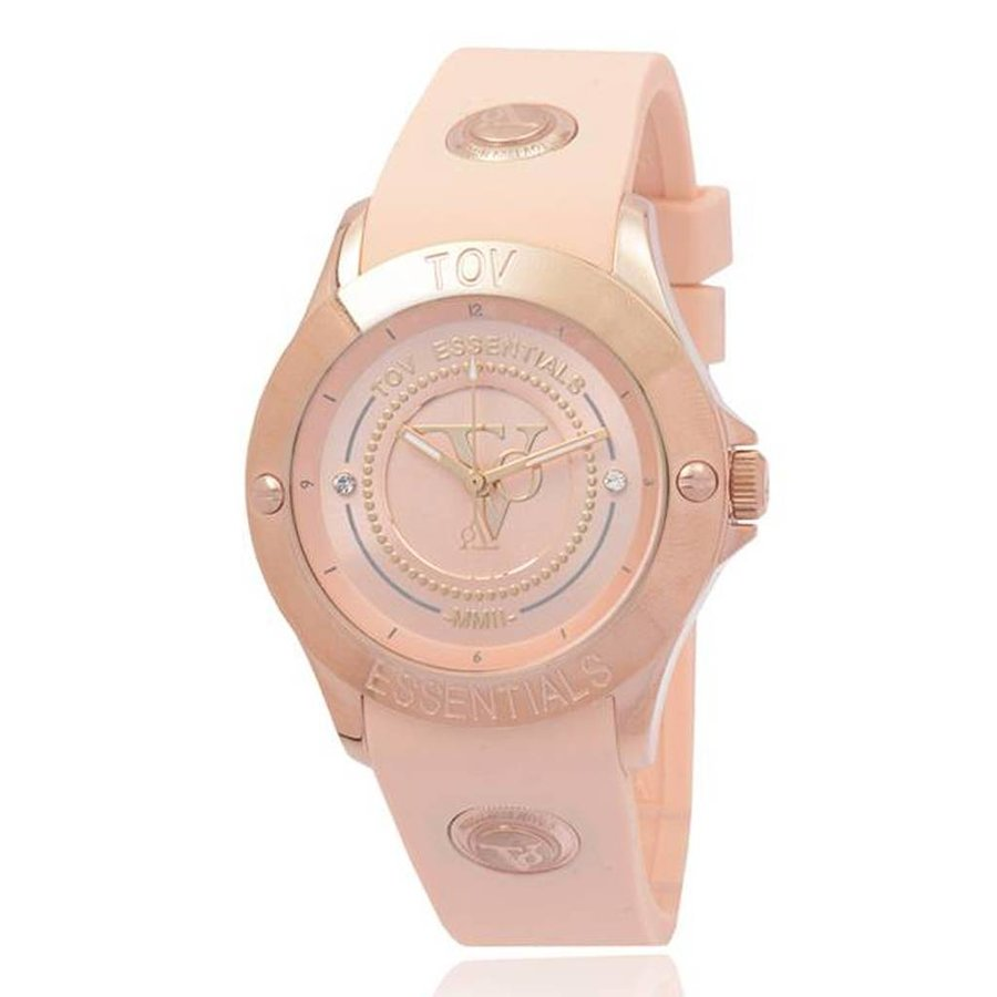 Tropical Beach - Rose - Horloge