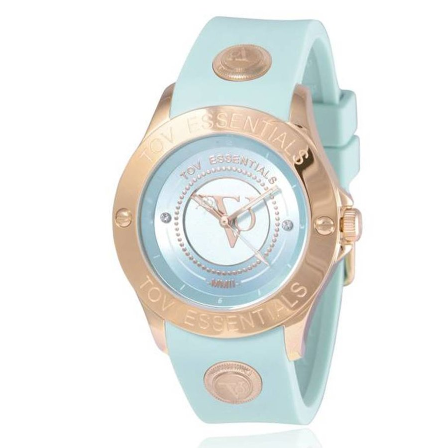 Blue Bay mint green/rose watch