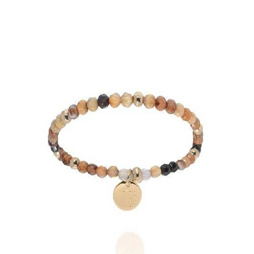 Romancing the stones bracelet - Brown/Light Gold