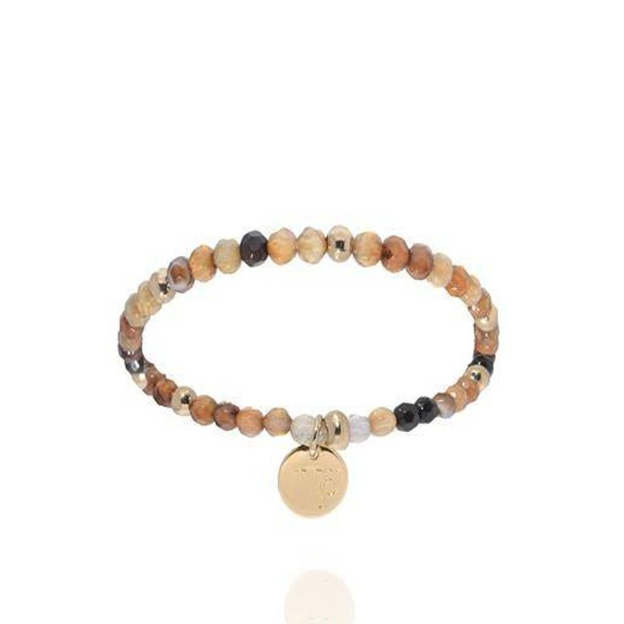 Romancing the stones bracelet - Brown/Light Gold