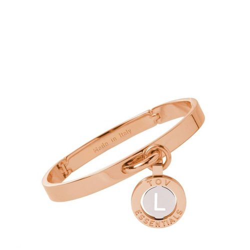 Iniziali bangle 2.0 - Rose/White Gold - Letter L