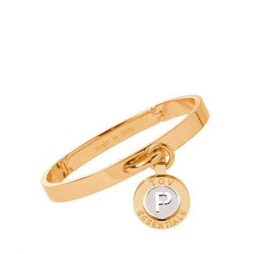 Iniziali bangle 2.0 - Gold/White Gold - Letter P