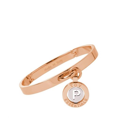 Iniziali bangle 2.0 - Rose/White Gold - Letter P