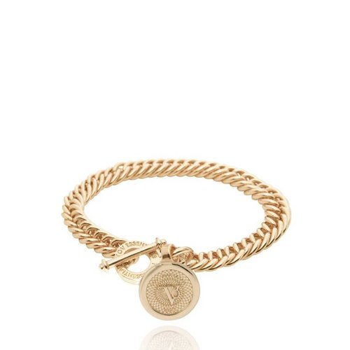 Ini mini mermaid medaillon bracelet - Light gold