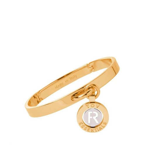Iniziali bangle 2.0 - Gold/White Gold - Letter R