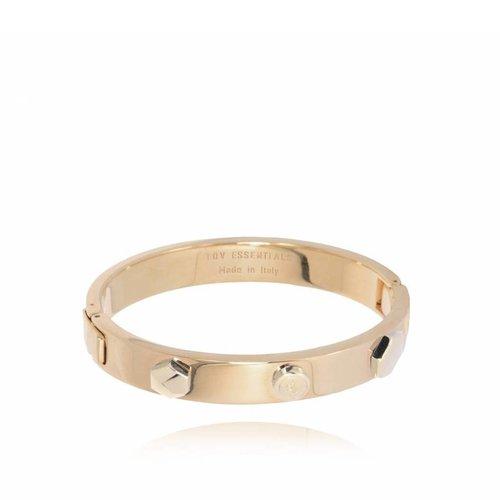 TOV rivets bangle (Armband) - Champagne Goud