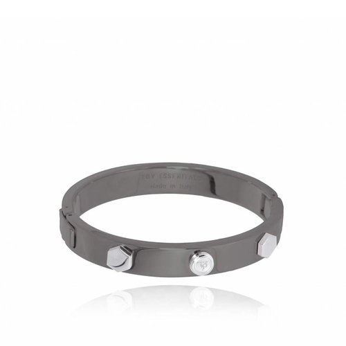 TOV rivets bangle - gun metal