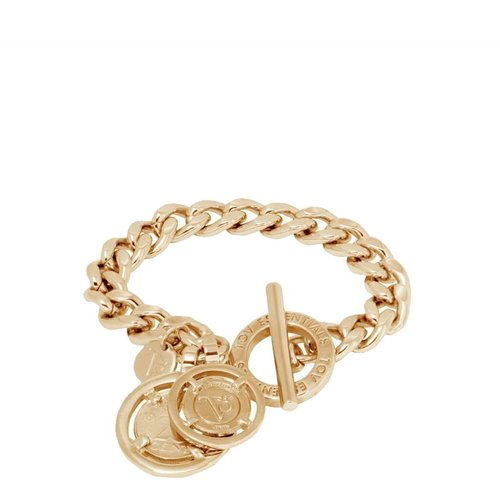 Mini flat chain bracelet - Light Gold