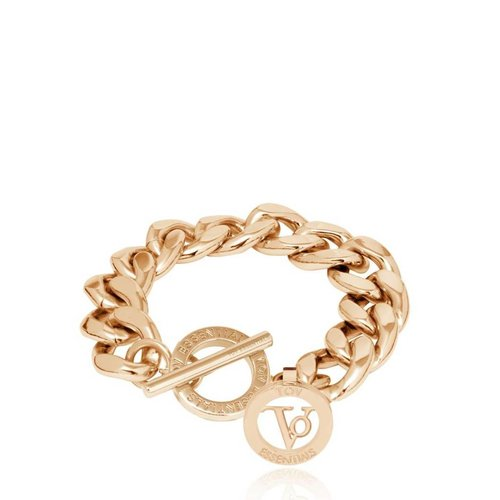 Small flat chain bracelet - Light Gold