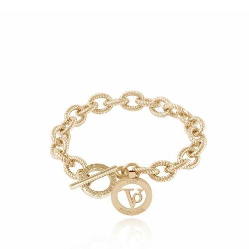 Small flat chain bracelet - Gold  - Copy