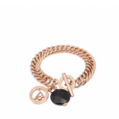 Mermaid bracelet - onyx pendant - TOV coin