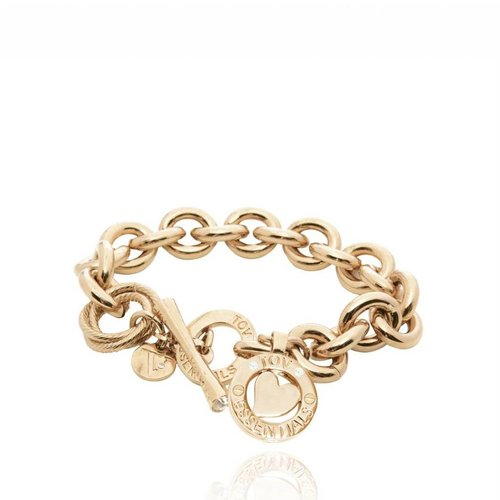 Round Gourmet - Armband - Champagne Goud/Hart