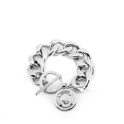 Flat gourmet bracelet - White Gold