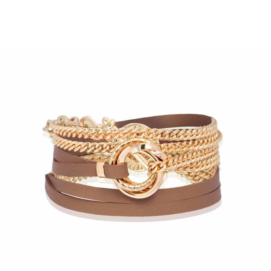 Leather & Chain - Armband