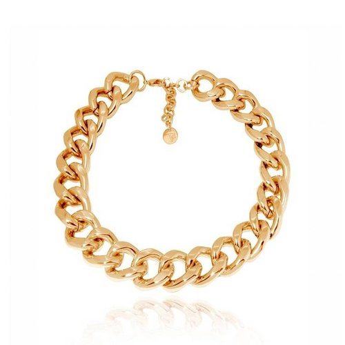Flat gourmet collier - Gold