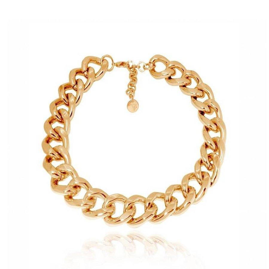 Flat gourmet collier - Gold