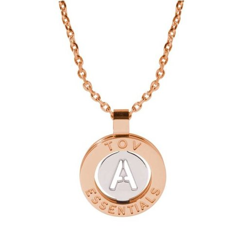 Iniziali necklace 2.0 - Rose/White Gold - Letter A