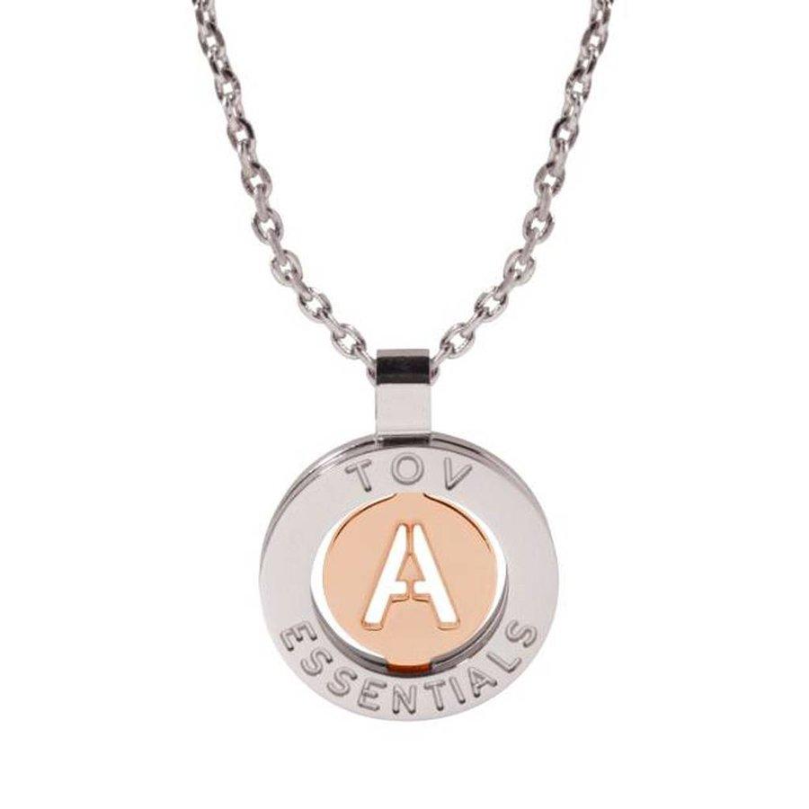 Iniziali necklace 2.0 - White Gold/Rose - Letter A