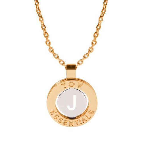 Iniziali necklace 2.0 - Gold/White Gold - Letter J